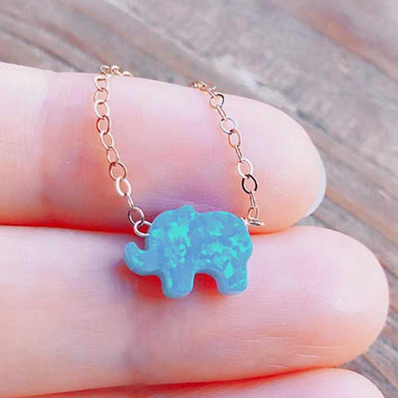 Bebê Elefante amuleto Coração Amizade Colar de Mulheres Cadeia de Jóias Dainty Melhores Presentes Para Ela Collier Femme