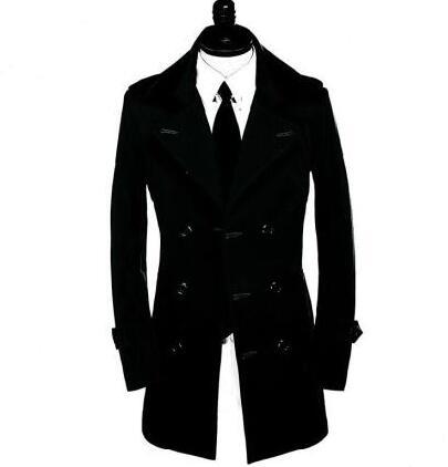 long Tranchée Longues Sexy Manteau Manches Moyen Nouveau Vêtements marron À Automne D'affaires 9xl kaki rouge Rive S Slim Pour Pardessus Survêtement Hommes Noir gris Designer qznOFX