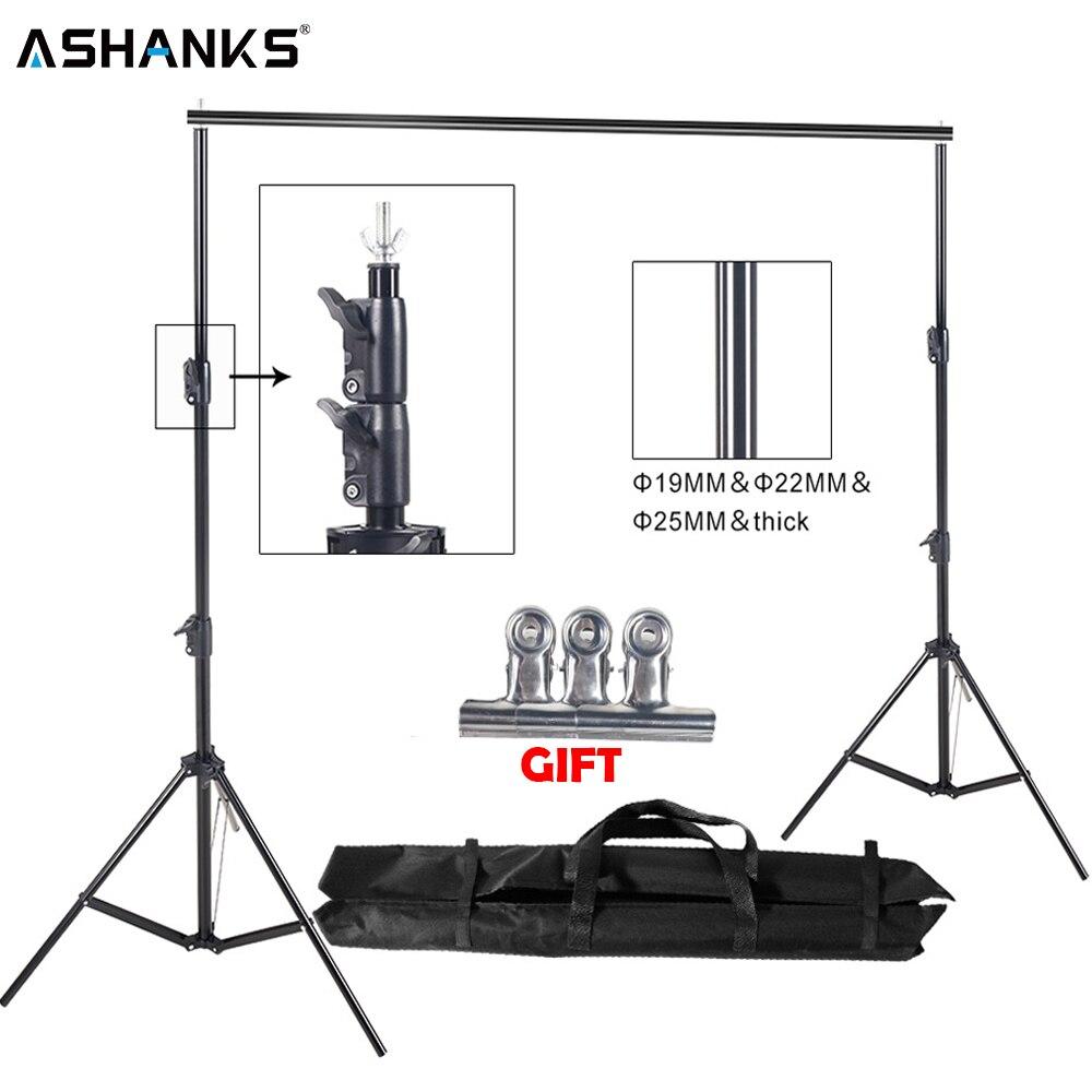ASHANKS 8.5ft * 10ft Support de fond Pro photographie vidéo Photo système de Support de toile de fond pour Fotografia Studio avec sac de transport