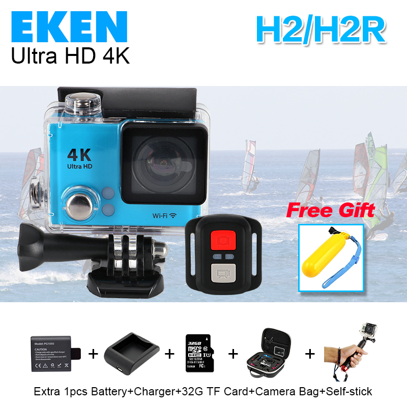 "2016 NEW Gopro Hero 4 style H2/H2R 4K Ultra HD WiFi Action camera Full Hd 2.0""1080P Go sj pro with remote control Sport Cam"
