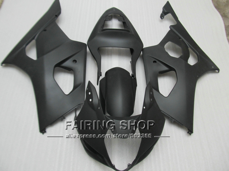 Injection mold high quality fairings for Suzuki GSXR1000 03 04 K3 K4 matte black fairing kit GSXR 1000 2003 2004 WT33 injection mold for pp automobile bumper