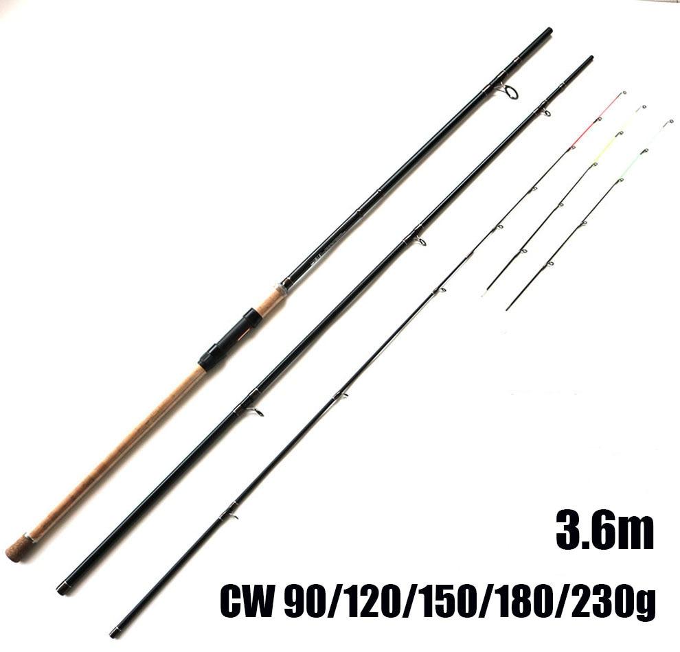 цена на Free Shipping 3.6m CW 90g 120g 150g 180g 230g Extra Heavy Fishing Feeder Rods High Carbon Fiber Feeder Rod