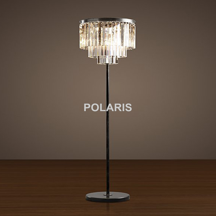 factory outlet modern vintage crystal floor lamp light home lighting decoration made by polaris lighting - Decorative Floor Lamps
