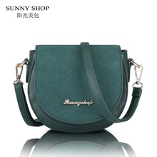 SUNNY SHOP 2017 New Spring Women Handbags Fashion Designer Small Women Bag Saddle Shoulder Bags
