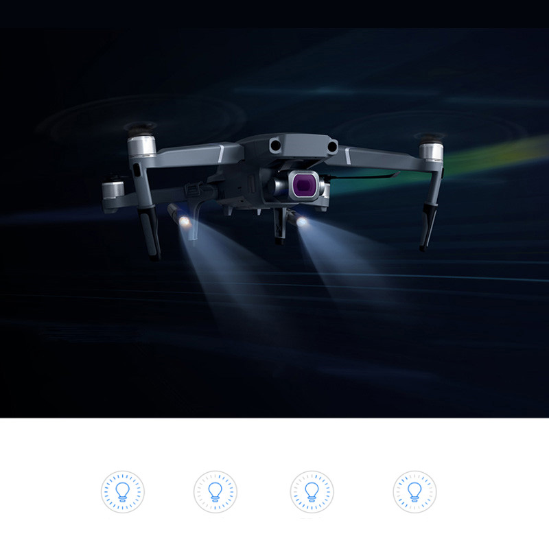 Landing Gear & LED light Night flight lights lamp Use AAA battery replace Spare parts for DJI Mavic 2 pro Mavic 2 Zoom Drone pgytech dji mavic 2 landing gear riser extended landing gear leg for dji mavic 2 pro zoom fly more combo drone accessories parts