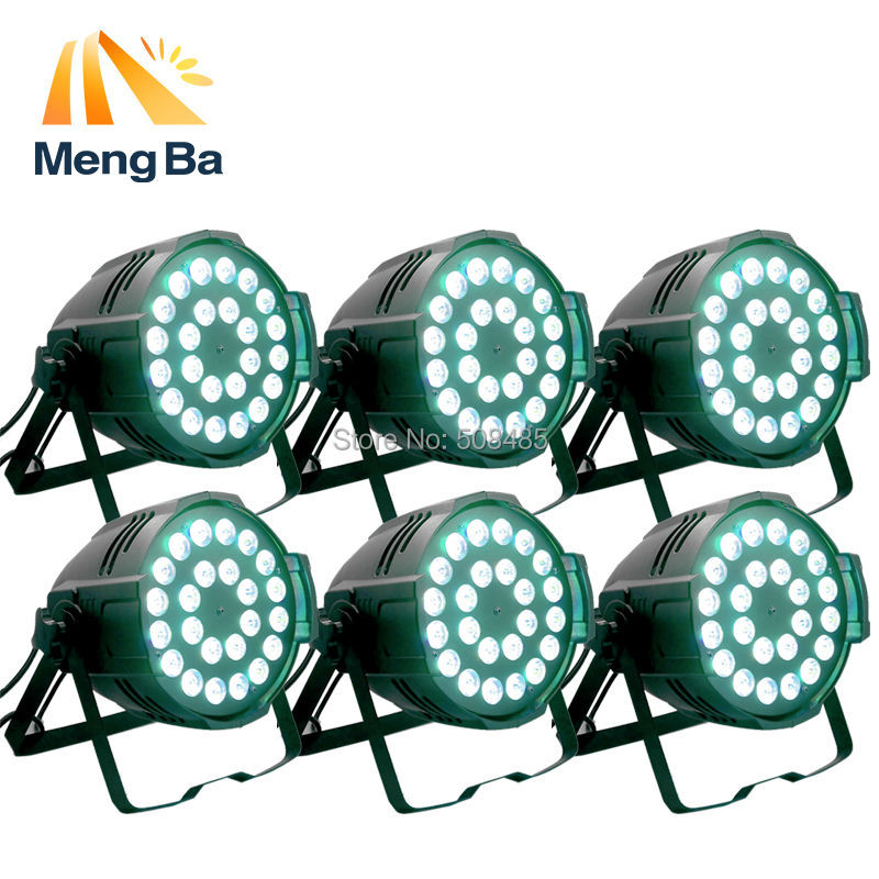 6pcs Aluminum alloy LED par 18x12W RGBW 4in1 LED Par Can Par64 led spotlight dj projector wash lighting stage light light