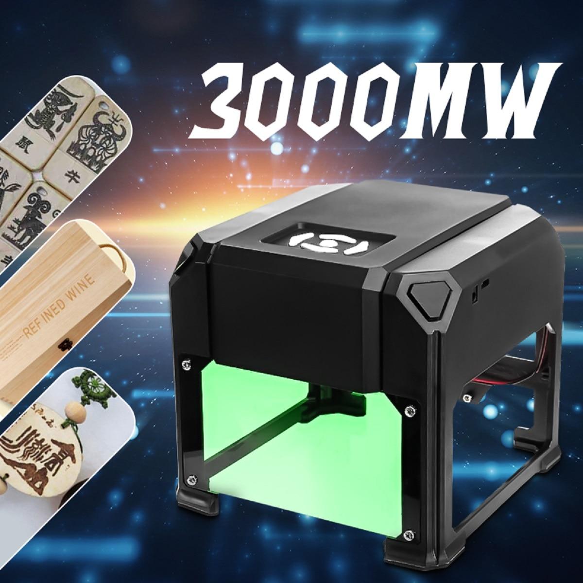 3000 МВт USB Настольный лазерный гравер машина 80x80 мм Гравировка Диапазон DIY Логотип Марка принтер резак ЧПУ лазерная резьба машина