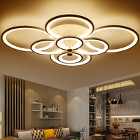 Modern Brief White Black Iron Dimable Led Ceiling Light Fixture Home Deco Surface Mounted Remote Control