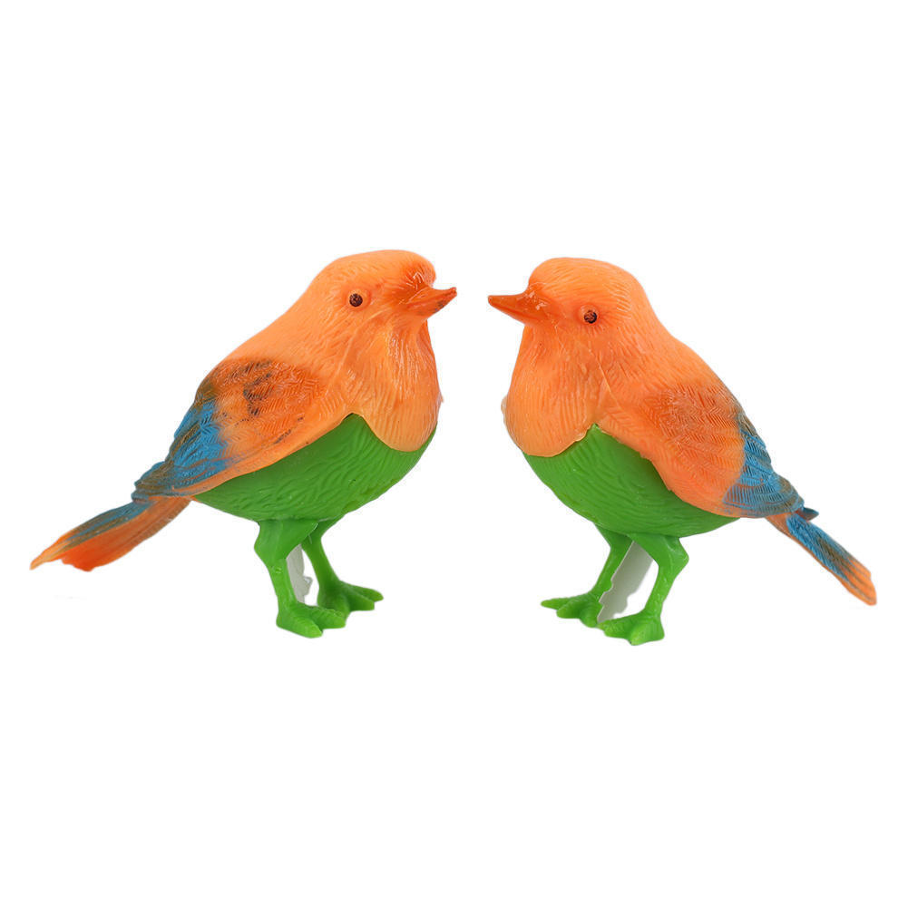 2Pcs Vivid Image Lifelike Plastic Baby Bird Toys Sound Control Singing Music Animal Toy For Kids Children Electronic Toy Gifts