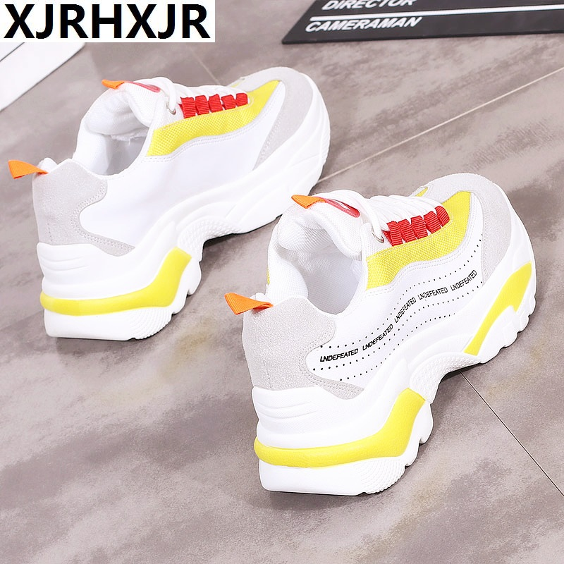 62a9292c6c Harajuku Ulzzang Women Casual Shoes 2018 Summer Autumn New Fashion White  Womens Platform Comfortable Lace Up Sneakers