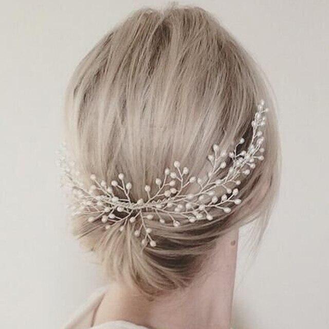 handmade large headdress luxury women hair jewelry wedding prom hair accessories pearl bridal hair combs for