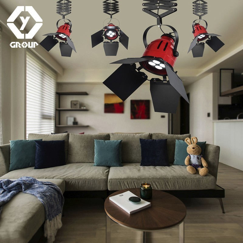 OYGROUP GIndustrial Stretching Ceiling Lamps From Russian E27 40W Iro Ceiling lighting Without Bulb Decoration for Bar Hotel iro w15091464233