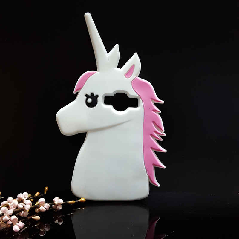 Galleria fotografica 3D Cute Cartoon Unicorn Soft Silicone Rubber Case Cover For Samsung Galaxy Core Prime G360 G360H / J1 Ace J110F not for J1