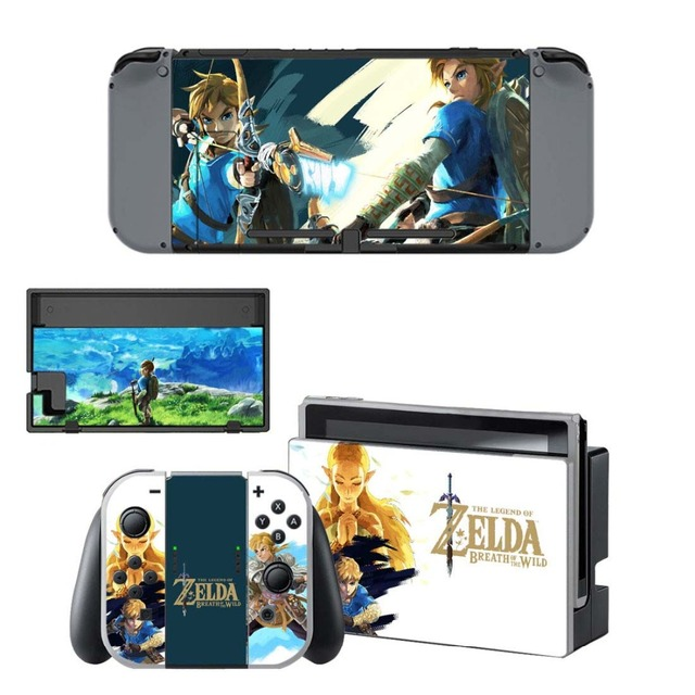 NS Game Skin Nintend Switch Console Sticker Vinyl Decal Skins Kit for Nintendo Switch Console and Controller 3