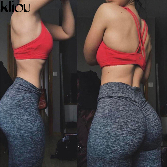 1506ea90e9399 Kliou 2018 Women Leggings Polyester High Quality High Waist Push Up Elastic  Casual Workout Fitness Sexy