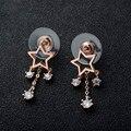 DJM Qualidade AAA Moda Jóias Marca De Luxo Céu Estrelado de Zircônia CZ Diamond Drop Brinco Para As Mulheres (DJ0699)