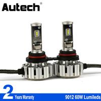 Autech 2 Pieces Constant Power 2 5A 12V With CSP Chips LED Headlight Fog Light High