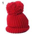 Hot  Women's Winter Knit Cap Warm Oversized Cuffed Beanie Crochet Ski Bobble Beanies knitting Retail/Wholesale  5BWP 7FGB