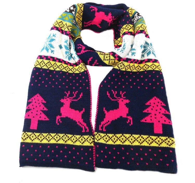 BK estilo escocés invierno tejer lana bufandas populares Reno ...