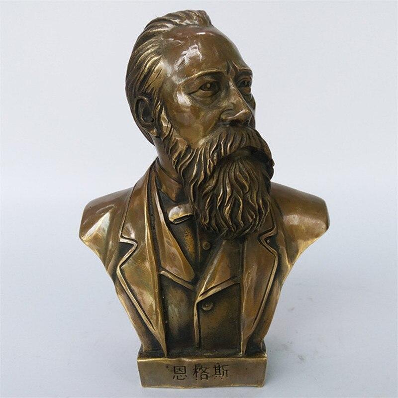 Soviet Marxism Friedrich Engels Bust Bronze Statue Figurines Art Craft Home Decoration L3426Soviet Marxism Friedrich Engels Bust Bronze Statue Figurines Art Craft Home Decoration L3426