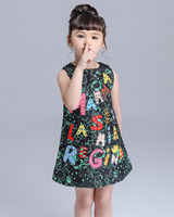 High End Luxury 2015 Autumn Girls Dress Brand Designer Kids Clothes Winter Kids Clothes For Baby