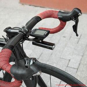 Image 2 - ROCKBROS 400LM luce per bici faro per bicicletta con supporto per montaggio IPX3 USB torcia ricaricabile per bici Combo supporto anteriore esterno