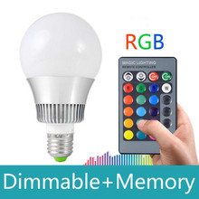 цены на High Qulity 5w 25w E14 GU10 E27 RGB LED Bulb 16Color Change RGB LED Lamp spot light 85-265v 12v+Remote control ampolleta led rgb в интернет-магазинах