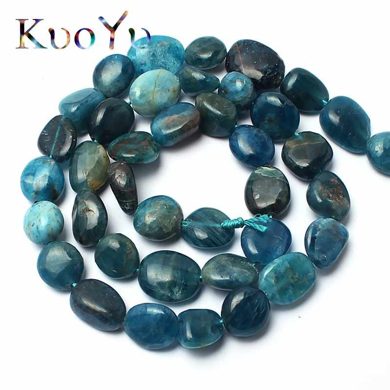 Natural Irregular Apatite Stone Beads Loose Spacer Beads For Jewelry Making 15inches 8-10mm DIY Bracelets Necklace Wholesale