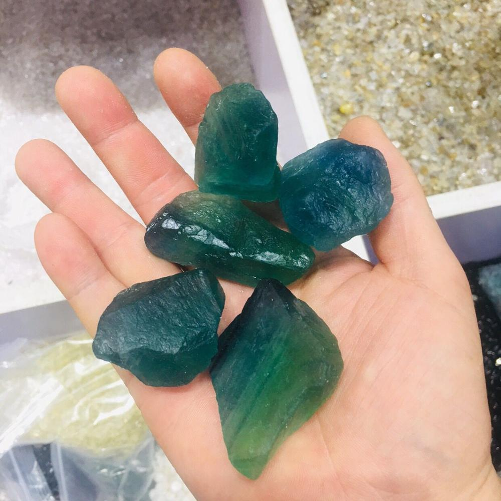 100g פלואוריט ירוק מחוספס כחול פלואוריט טבעי אבנים ומינרלים קריסטל ריפוי גבישים עבור מלאכות aliexpress קריסטל