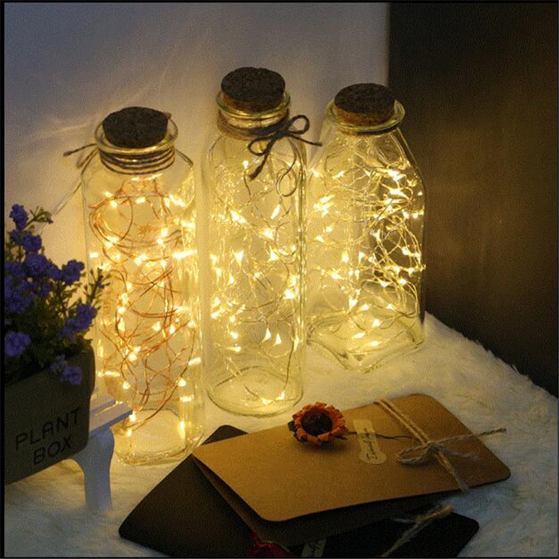 Capable 5pcs 1m 10 Led Cr2032 Battery Operated Copper Wire String Lights Xmas Starry Fairy Lights For Garland/party/wedding Decoration Lights & Lighting Led String