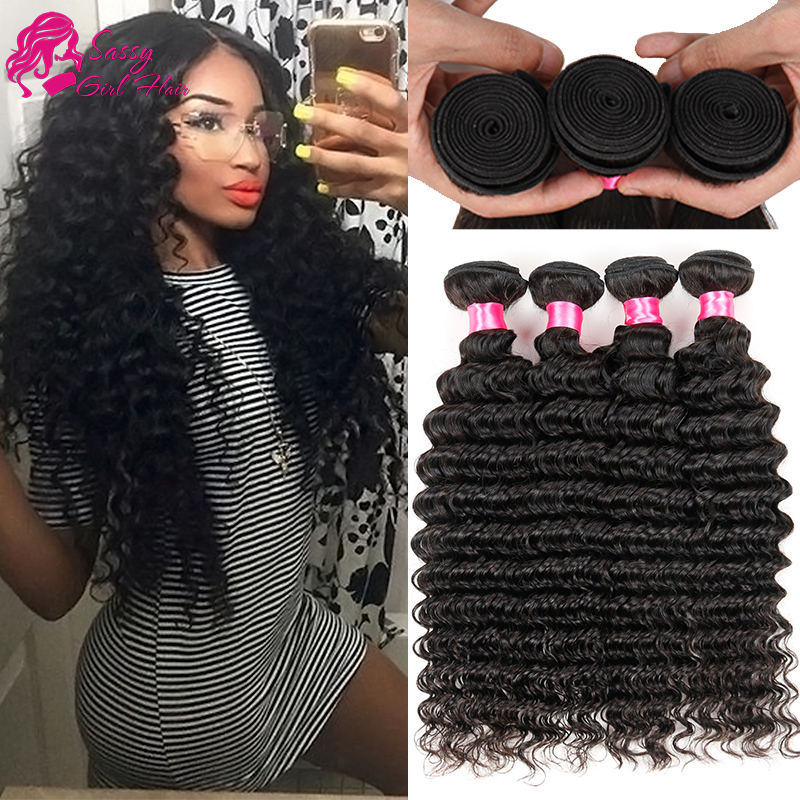 Deep Wave Brazilian Hair 4 Bundle 7a Unprocessed Virgin