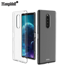 Slim Soft Transparent Case for Sony Xperia 1 2 XZ2 Premium XZ4 Compact L3 L2 XA3 XA2 10 Plus Ultra Phone Silicone TPU Cover