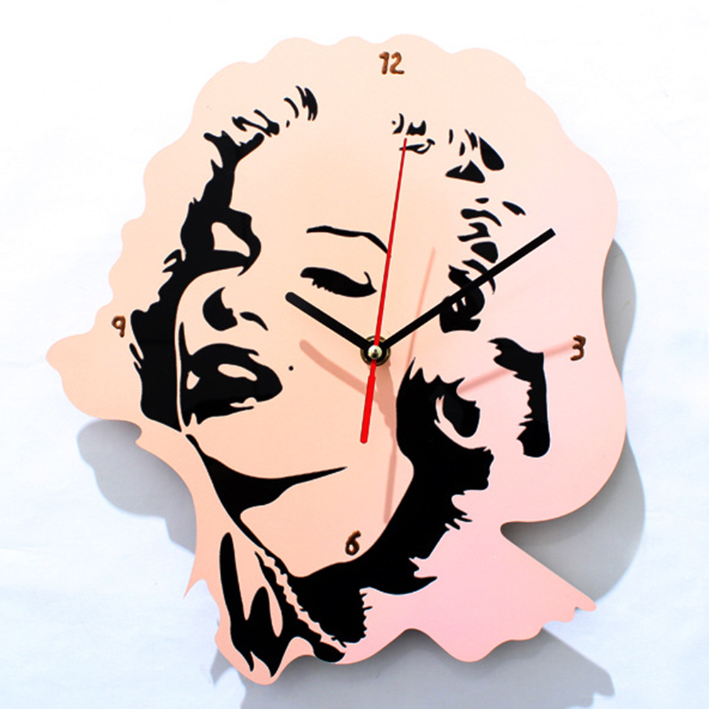 Marilyn Monroe Wall Clock Singer <font><b>Sex</b></font> Symbols Icon Wall Art Decorative Wall <font><b>Watch</b></font> Music Lover Gift image