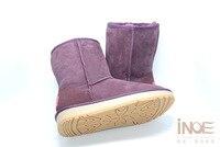 иноэ/из овечьей кожи замшевые зимние ботинки для женщин реального овечья шерсть подкладке зимняя обувь высокое качество серый черный 35-44