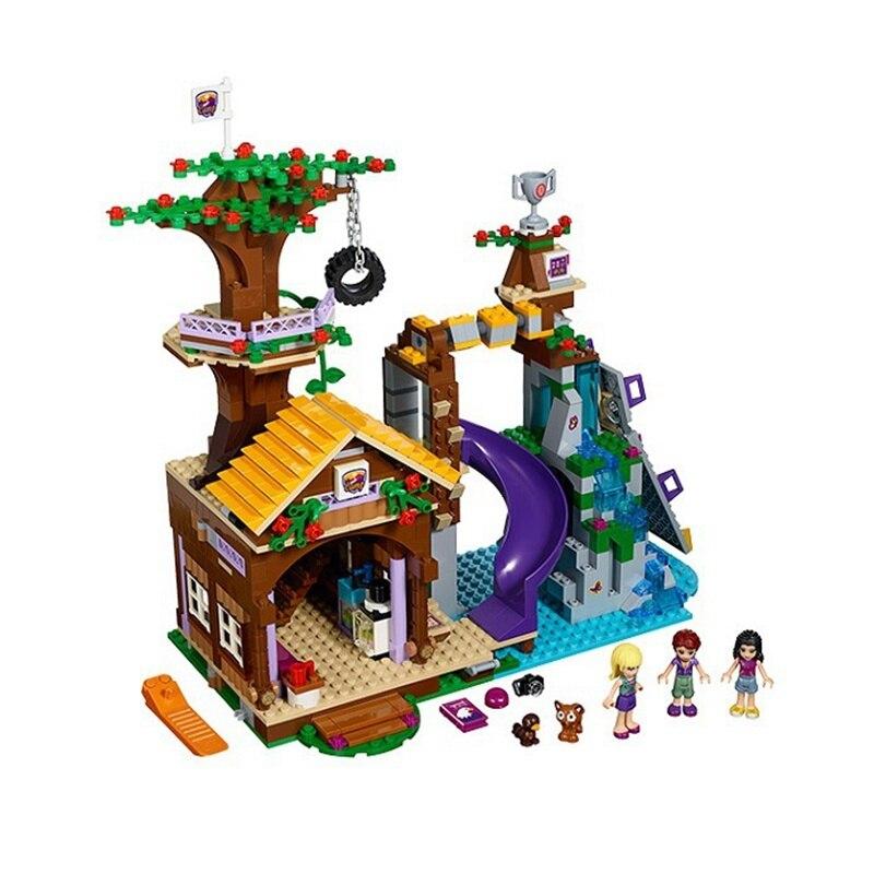 Compatible Legoe Friends 41122 Lepin 01047 784pcs Adventure Camp Tree House Figure building blocks Bricks toys for children stzhou 10164 659pcs compatiable with legoe friends olivia s house building bricks blocks toys for children girl game castle gift