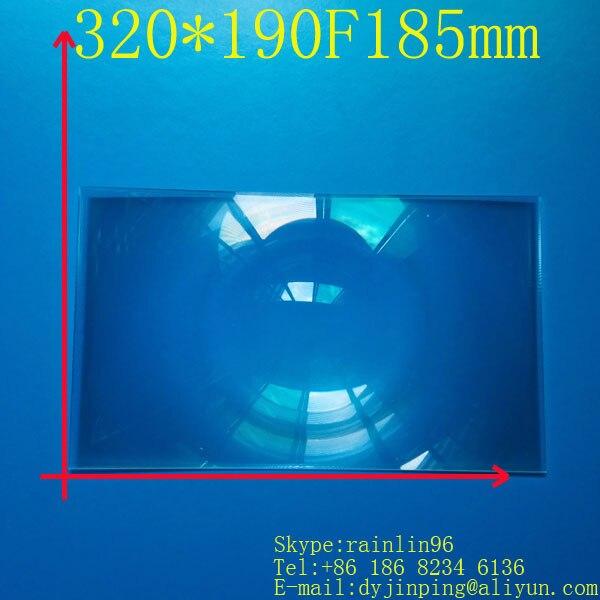 Livraison gratuite 15.6 pouces lcd panneau bricolage écran de projection projecteur lentille de fresnel 320*190 MM longueur focale 185 MM