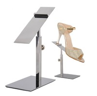 10 Pieces Adjustable Mirror Polished Metal Shoe Display Stand Sandals Shoe Display Rack Holder For Shoe