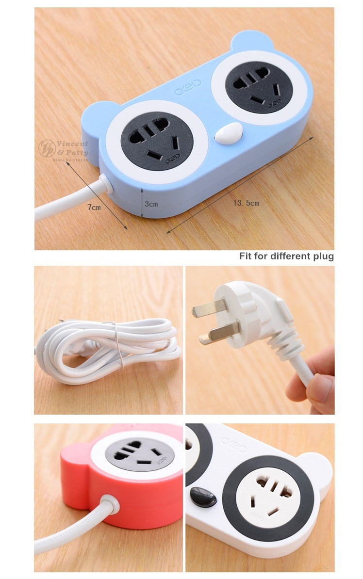 Cute Panda Platooninsert With USB Charger Port Mini Tabletop Socket Board  Universal Outlet Power Strip Novelty Households 5173 In Outlets From Home  ...