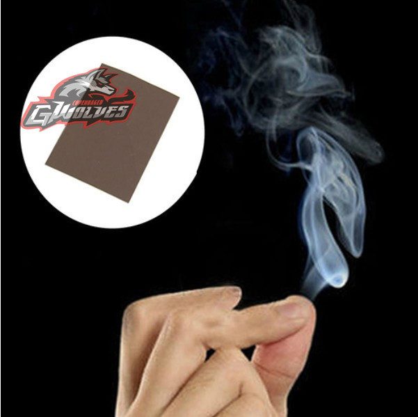 New 2pcs funny mysterious Magic Trick props hand rub smoke empty out of smog super cool play magie ...