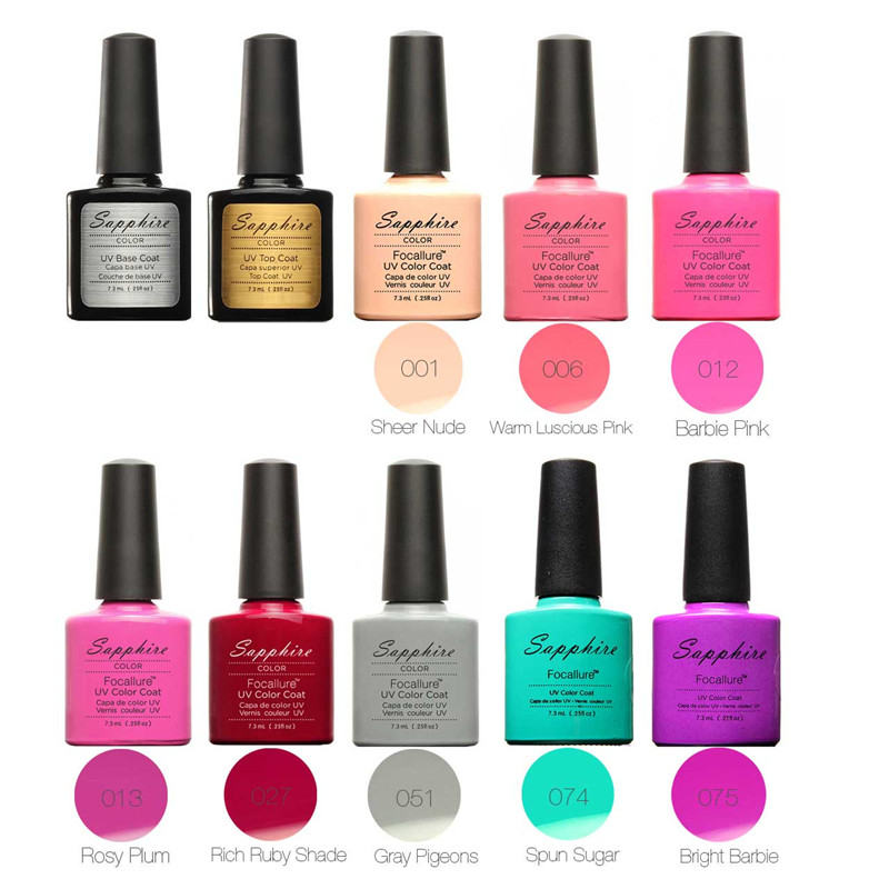 Aliexpress Focallure New Pro Nail Gel Set Art Kit Soak Off Polish Varnishes Top Base Coat Manicure Tools With Remover From