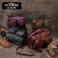 22016 Do Vintage de Couro Genuíno Saco Handmade Saco de Ombro Ocasional corpo Cruz Bolsa de quatro Cores