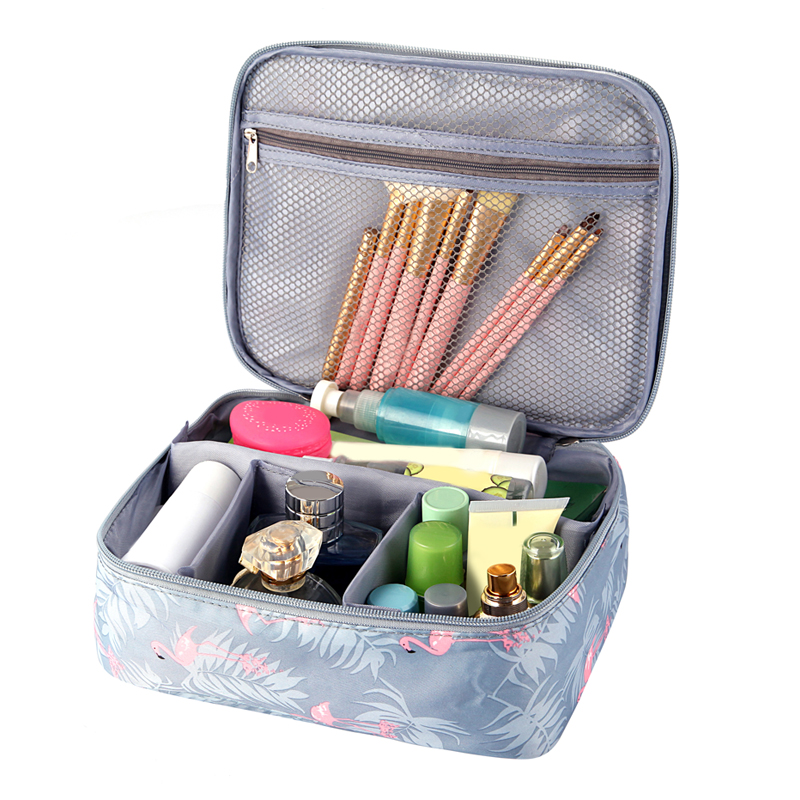 Travel Girl Makeup Box Cosmetic Bags Women's Trip Wash Toiletry Lipstick Eyelash Brush Pouch Case Accessories Supplies Product