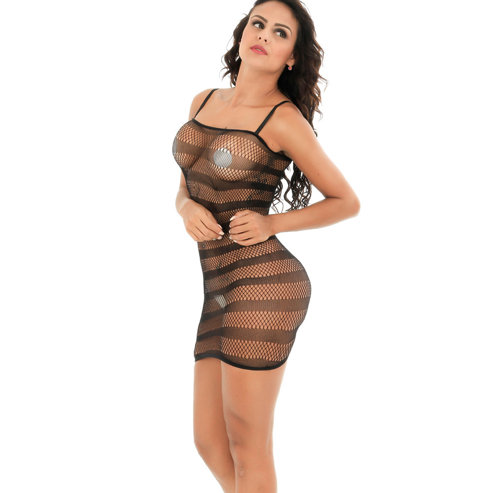 Buy JAYCOSIN Women Hollow Bodysuit Sexy Lingerie Open Crotch Bodystockings Perspective Erotic Underwear Pajama Costumes D30 Apr13