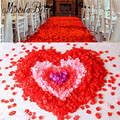 Bridal Petalos De Rosa Para Casamento Flower Girl Rose Petals Wedding Accessories Decor Atificial Polyester Flowers 1000PCS/Lot