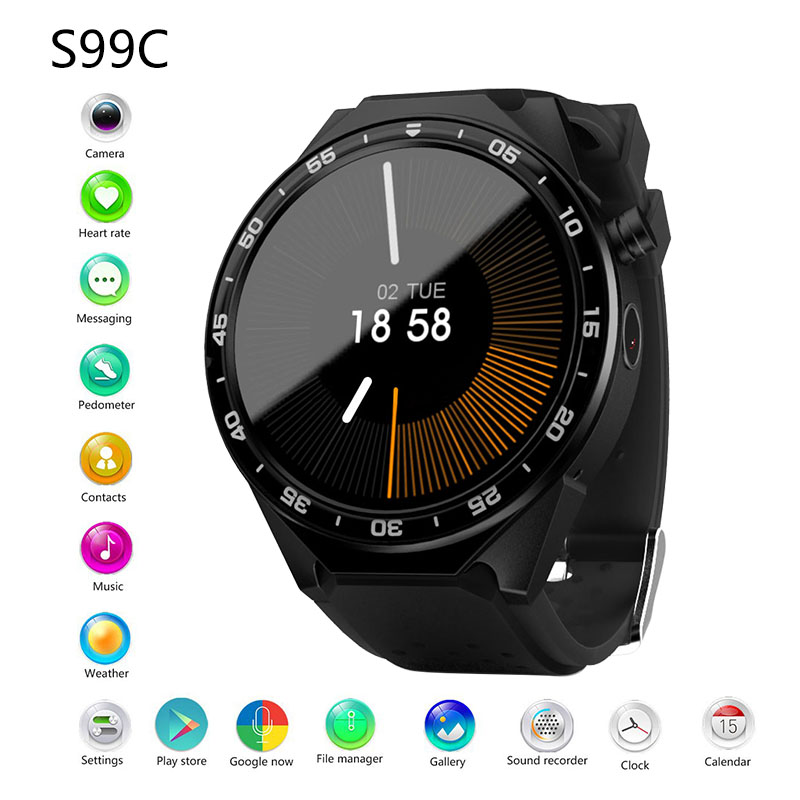 S99C Bluetooth Smart Watch with Camera 2GB RAM 16GB ROM Support SIM Card 3G WIFI GPS Smartwatch for Android IOS Phone PK KW88S99C Bluetooth Smart Watch with Camera 2GB RAM 16GB ROM Support SIM Card 3G WIFI GPS Smartwatch for Android IOS Phone PK KW88