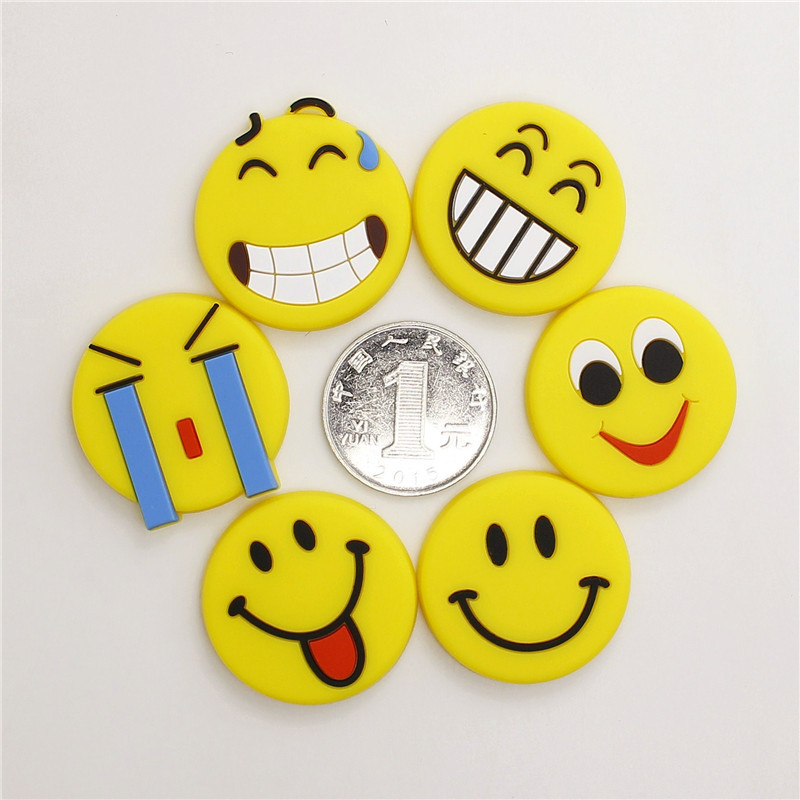 FOURETAW 10 Pcs lot Creative Cartoon Cute Yellow Smile Smiley Mood Face Fridge Magnets Souvenir Magnetic Sticker Drop Shipping in Fridge Magnets from Home Garden