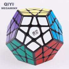 Qiyi 12 Sides MEGAMINX Magic Cube Puzzle Multicolor Stickerless Speed Cubes for Beginers Plastic Educational Toys For Kids Gift