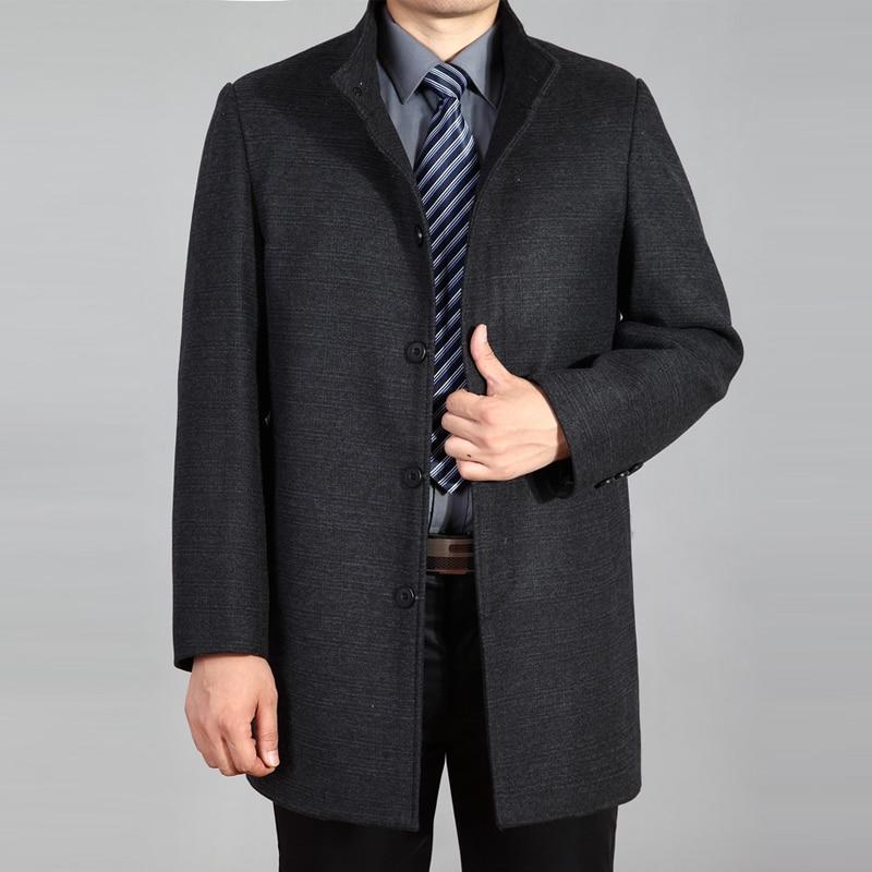 2018 Heißer Verkauf Winter Wolle Mantel Männer Kaschmir Mantel Wolle Langen Mantel Herren Peacoat Wolle Graben Mantel Homme Woolen Jacke Herbst