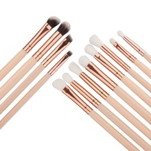 12Pcs /Set Makeup Brush Eye Set Shadow Eyebrow Foundation Concealer Smear Mixed Powder