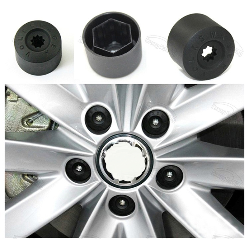 20 Car Bolts Alloy Wheel Nuts Covers 17mm Chrome For  Opel Corsa C